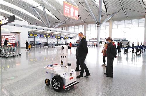 全国首个测温巡逻机器人亮相